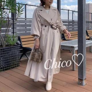 フーズフーチコ(who's who Chico)のフーズフーチコ サイドプリーツトレンチコート最新作2019(トレンチコート)