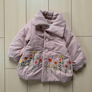 ハッカベビー(hakka baby)の【未使用】hakka baby★サーモライト中綿フラワー刺繍コート(ジャケット/コート)