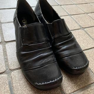 革靴 黒 ブラック(ローファー/革靴)