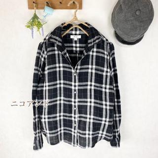 ニコアンド(niko and...)のLLサイズ ニコアンド   麻100% ゆったりシャツ リネン   ブラウス(シャツ/ブラウス(長袖/七分))