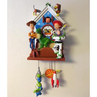 トイストーリー(トイ・ストーリー)の日本未入荷/toy story 壁掛け振り子時計/Disney pixar(キャラクターグッズ)