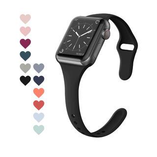 アップルウォッチ(Apple Watch)の黒 apple watch バンド ベルト シリコン 40 38(腕時計(デジタル))