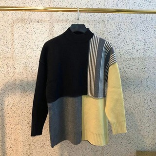 ジルサンダー(Jil Sander)のJIL マルチカラー カラーブロック パネル セーター(ニット/セーター)