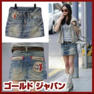【新品】デニムミニスカート 大きめサイズ(ミニスカート)