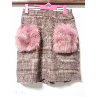 グレイル(GRL)のGRL タータンチェックピンクスカート(ひざ丈スカート)