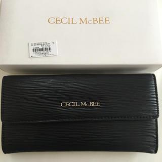 セシルマクビー(CECIL McBEE)の新品 セシルマクビー 長財布 ウォレット ブラック 黒(財布)