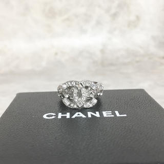 シャネル(CHANEL)の正規品 シャネル 指輪 エタニティ ココマーク ラインストーン パール リング(リング(指輪))