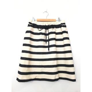 12TwelveAgenda ボーダースカート #Cattleya(ひざ丈スカート)
