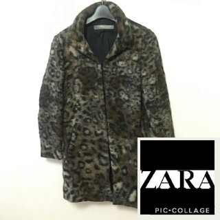 ザラ(ZARA)のザラ☆レオパード柄 コート(毛皮/ファーコート)