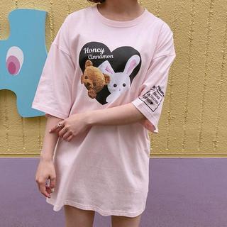 ハニーシナモン(Honey Cinnamon)のHoney Cinnamon Tシャツ トップス【最終値下げ】(Tシャツ(半袖/袖なし))