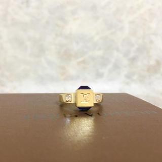 ルイヴィトン(LOUIS VUITTON)の正規品 ヴィトン 指輪 ギャンブル ストーン ゴールド 金 クリスタル 石リング(リング(指輪))