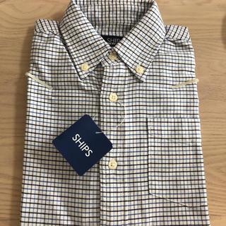 シップス(SHIPS)のシップス  新品未使用 キッズ チェックシャツ 110㎝ 長袖(ブラウス)
