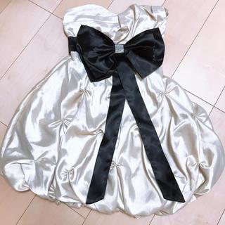 シャンパンゴールド ドレス(ミディアムドレス)