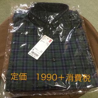 ユニクロ(UNIQLO)のユニクロ チェックシャツ  メンズ S  新品タグ付き 長袖(シャツ)