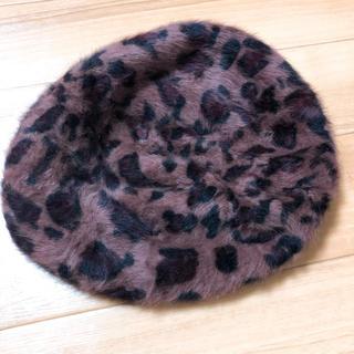 ウィゴー(WEGO)のレオパード ベレー帽(ハンチング/ベレー帽)
