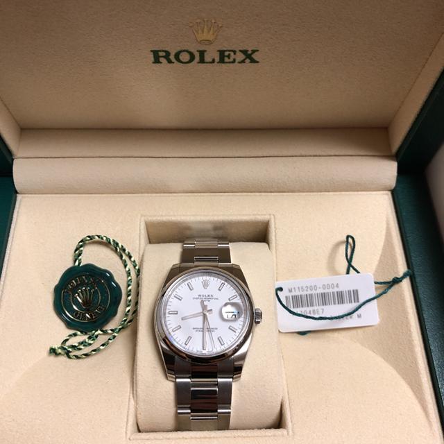 オメガ 時計 20年前 | ROLEX - ロレックス  オイスター パーペチュアル 白   xmasセールの通販 by N