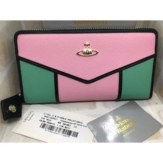 ヴィヴィアンウエストウッド(Vivienne Westwood)のVivienne Westwood ピンク マルチ 長財布 新品未使用(財布)