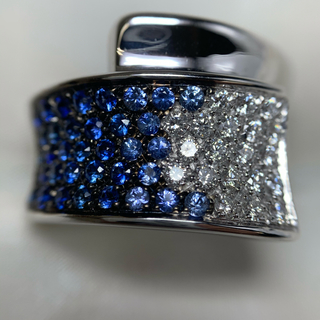 スタージュエリー(STAR JEWELRY)のStar Jewelry サファイア ダイヤモンド リング(リング(指輪))