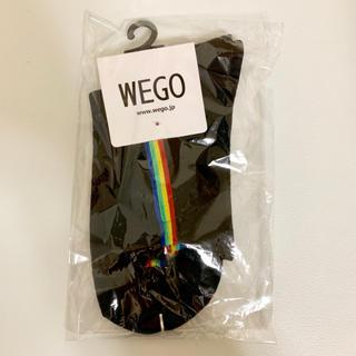 ウィゴー(WEGO)のWEGO ウィゴー レインボー縦ライン ソックス 靴下(ソックス)
