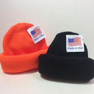 ロスコ(ROTHCO)のROTHCO KNIT帽 BLACK&ORANGE  2個SET(ニット帽/ビーニー)