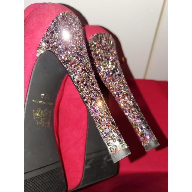 ESPERANZA(エスペランサ)のESPERANZA エスペランサ グリッター ラメ キラキラ ピンク スウェード レディースの靴/シューズ(ハイヒール/パンプス)の商品写真
