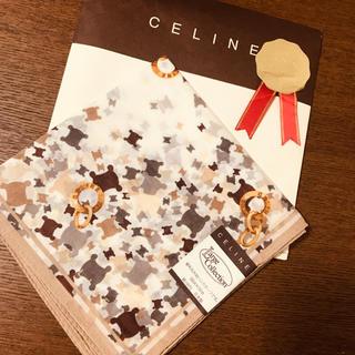 セリーヌ(celine)の◆新品未使用◆セリーヌ CELINE◆大判ハンカチーフ◆ブラウン系◆トレンド(ハンカチ)