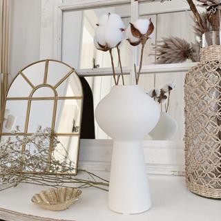 ザラホーム(ZARA HOME)の海外より テラコッタ花瓶 ドライフラワー 一輪挿し(花瓶)