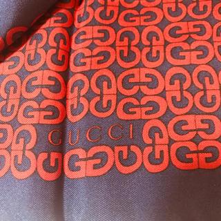 グッチ(Gucci)の◆新品未使用◆グッチGUCCI◆スカーフ◆ネックやバッグに◆ネイビーレッド紺赤◆(バンダナ/スカーフ)