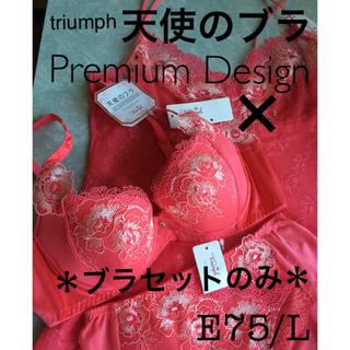 トリンプ(Triumph)の【新品タグ付】天使のブラ❤︎プレミアムE75L(定価¥12540)(ブラ&ショーツセット)