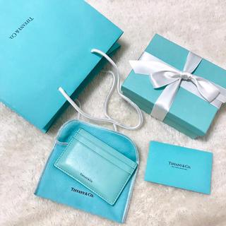 ティファニー(Tiffany & Co.)のティファニー✳︎カードケース✳︎ティファニーブルー(名刺入れ/定期入れ)