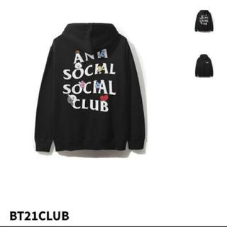 ボウダンショウネンダン(防弾少年団(BTS))のbts bt21 × ANTI SOCIAL CLUB パーカー(パーカー)