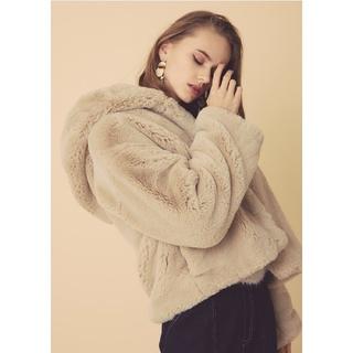 リエンダ(rienda)の新品 rienda  Faux Fur Hoodie Short CT  (毛皮/ファーコート)