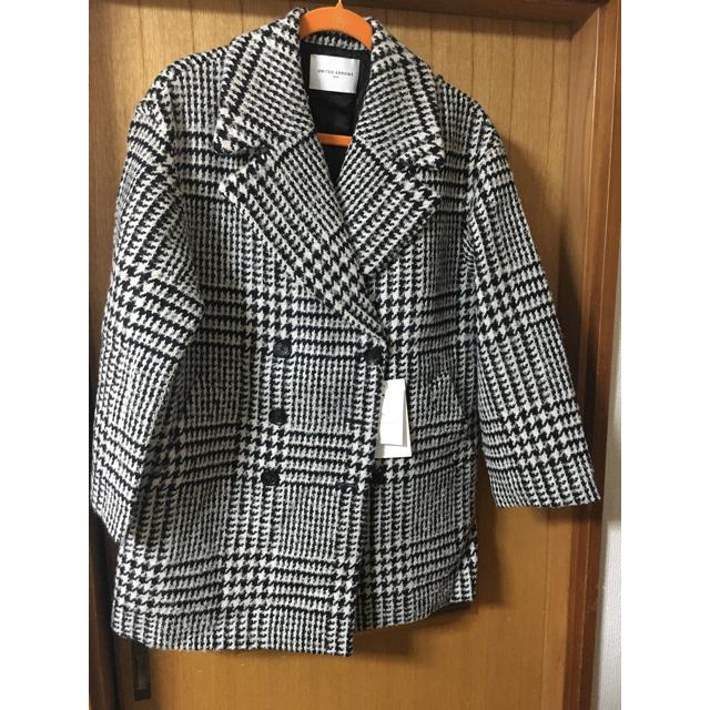 UNITED ARROWS(ユナイテッドアローズ)のチェックビックPコート レディースのジャケット/アウター(ピーコート)の商品写真