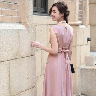パープル ドレス(ロングドレス)