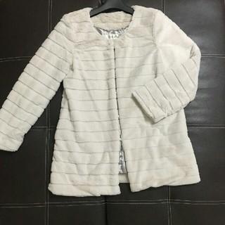 shellna☆ファーコート オフホワイト Lサイズ(毛皮/ファーコート)