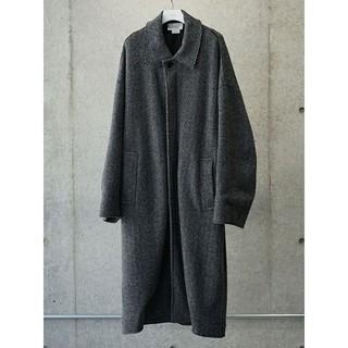 サンシー(SUNSEA)のYOKE DOUBLE JQUARD KNIT BAL COLLAR COAT(ステンカラーコート)