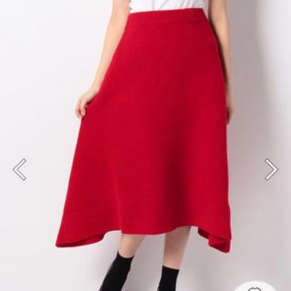 バーニーズニューヨーク(BARNEYS NEW YORK)の未使用 ヴェロフォンナ ウール80パーセント ニットスカート 15180円(ひざ丈スカート)