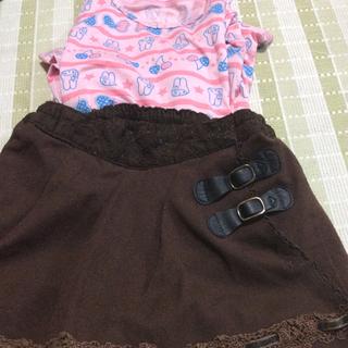 アクシーズファム(axes femme)のaxes 110 センチキュロットスカートおまけでユニクロヒートテック付き(パンツ/スパッツ)