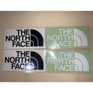 ザノースフェイス(THE NORTH FACE)のザノースフェイス ステッカー 白黒2枚セット 計4枚(ステッカー)