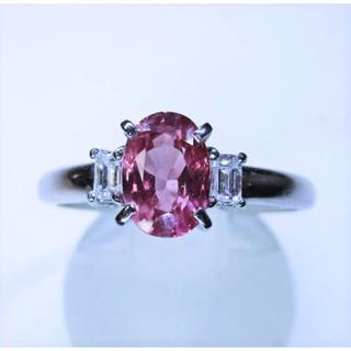 初売り※大粒高級天然ピンクサファイヤ1.19ctダイヤ入りリング(指輪)(リング(指輪))