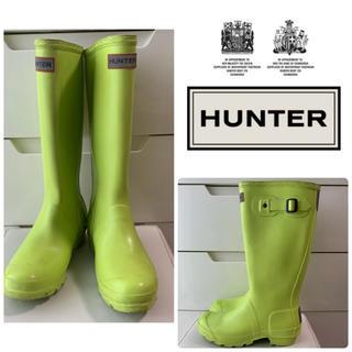 ハンター(HUNTER)の希少カラー HUNTER ネオンイエロー  レインブーツ(レインブーツ/長靴)