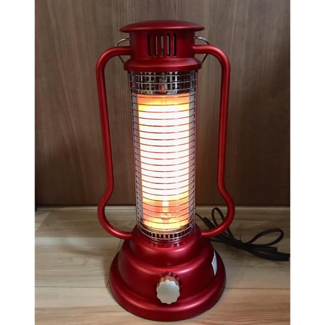 【お洒落】ハロゲンヒーター ランタン レッド 赤 アピックス APIX  スマホ/家電/カメラの冷暖房/空調(電気ヒーター)の商品写真