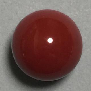 h91 天然 煌 濃赤本珊瑚 片穴12.0 mm 11.95ct 2.39g(リング(指輪))