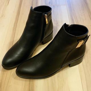 トゥモローランド(TOMORROWLAND)の新品☆チアキカタギリ 本革 ブーツ 24.5cm(ブーツ)