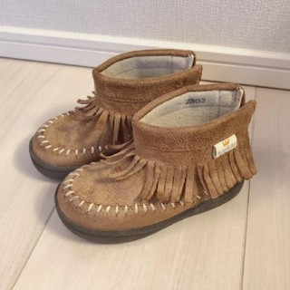 フタフタ(futafuta)のfutafuta♡フリンジブーツ14.0cm(ブーツ)