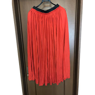 レディース  オレンジ色  スカート  サイズLL(ひざ丈スカート)