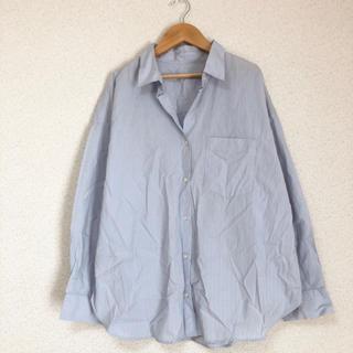 ジーユー(GU)の★ジーユー大きいサイズ ゆったりストライプシャツ XLサイズ★(シャツ/ブラウス(長袖/七分))