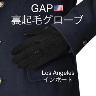 ギャップ(GAP)の人気✩GAP✩手袋✩グローブ✩ブラック✩黒✩防寒✩レザー✩ギャップ✩裏起毛✩送込(手袋)