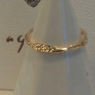 アガット(agete)のアガット K18 リング 5号 ゴールド ピンキー クラフト 美品 ひねり(リング(指輪))
