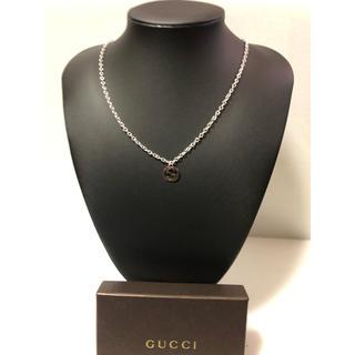 Gucci - GUCCI ネックレス ブラックメタルカラー